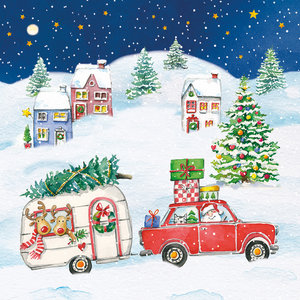 Paperproducts Design Paper Napkins X-Mas Car