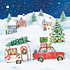 Paperproducts Design Papierservietten X-Mas Car