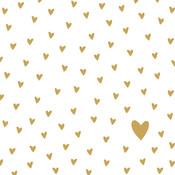 Paperproducts Design Papierservietten Little Hearts gold