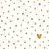 Paperproducts Design Paper Napkins Little Hearts gold
