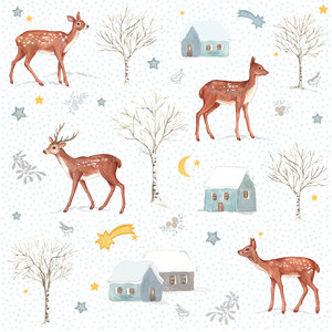 Paperproducts Design Paper Napkins X-Mas Deer Village