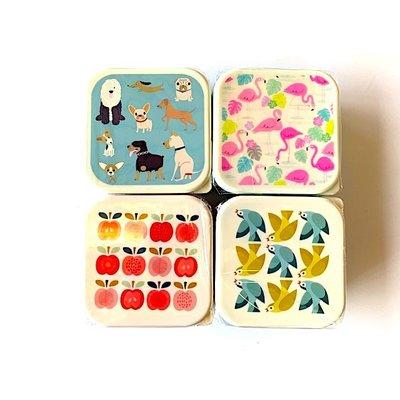 Rex London MIX Snack-Boxen 3-Set Best in Show/Love Bird/Flamingo/Apple