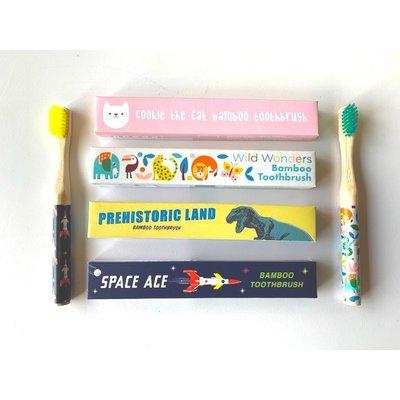 Rex London MIX Bamboo Toothbrush Cat /Prehistoric/Space/Wild Wonder