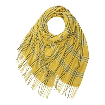 M&K Collection Scarf Prince Wales Check yellow
