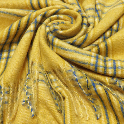 M&K Collection Schal Prince Wales Check yellow