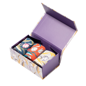 Miss Sparrow Giftbox Socken Bamboo  Tulips