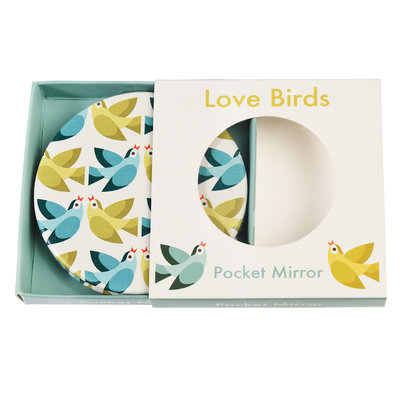 Rex London Compact Mirror Love Birds