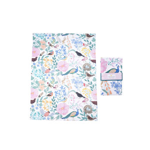 CGB Giftware Tea towel British Birds Floral