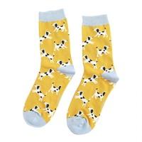 Miss Sparrow Socken Bamboo Dalmatians yellow