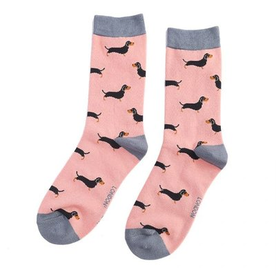 Miss Sparrow Socken Bamboo Little Sausage Dogs dusky pink