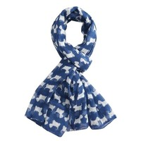 M&K Collection Scarve Mini Scottie navy