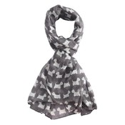 M&K Collection Schal Mini Scottie grey