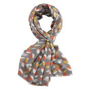M&K Collection Scarve  Leaves grey