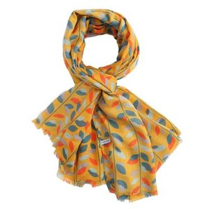 M&K Collection Schal Leaves mustard