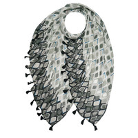 M&K Collection Scarf Tassel  Istanbul grey