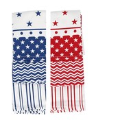 CGB Giftware Tea towel Stars/Stripes Set of 3 assorti