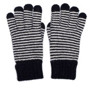 M&K Collection Gloves Tiny Stripes navy