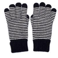 M&K Collection Gloves Tiny Stripes navy