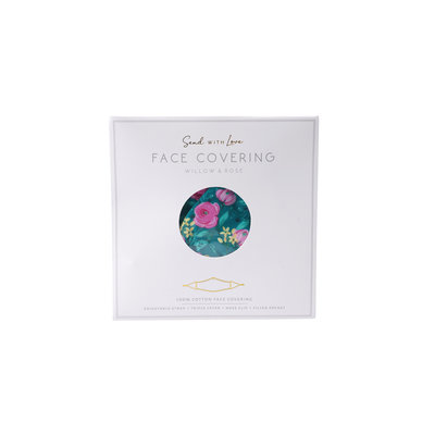 CGB Giftware Face Mask Cotton with filter pocket W&R turquoise