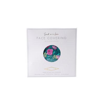 CGB Giftware Schutzmaske Baumwolle mit Filterfach W&R turquoise