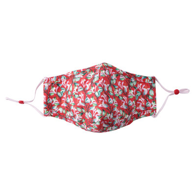 CGB Giftware Face Mask Cotton with filter pocket W&R coral
