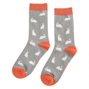 Miss Sparrow Socks Bamboo Rabbits grey