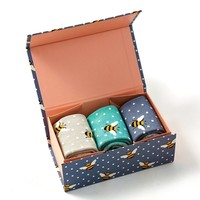 Miss Sparrow Giftbox Socken Bamboo  Bumble Bees