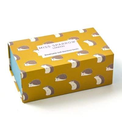 Miss Sparrow Giftbox  Bamboo Hedgehog