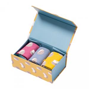 Miss Sparrow Giftbox Socken Bamboo  Igel/Hedgehog
