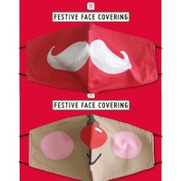 Talking Tables Face Mask Cotton with filter pocket Partytime assorti