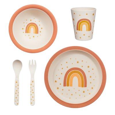 Sass & Belle Tableware set Bamboo Earth Rainbow