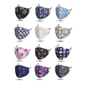 M&K Collection Face Mask Cotton with filter pocket Set 11 assorti