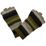Pure & Cozy Gloves Stripes beige/olive