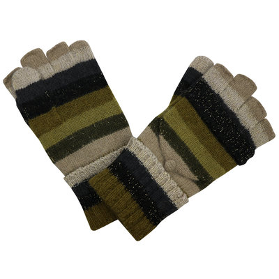 Pure & Cozy Handschuhe Stripes beige/olive