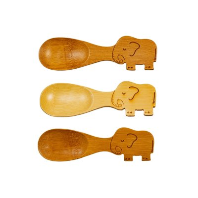 Sass & Belle Bamboo Spoons Elephant Set of 3