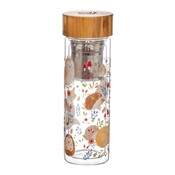 Sass & Belle Glass water bottle with Infuser Forest Folk