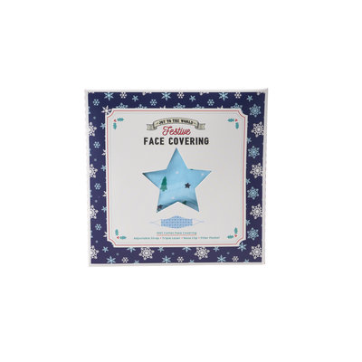 CGB Giftware Face Mask Cotton with filter pocket Christmas Tree