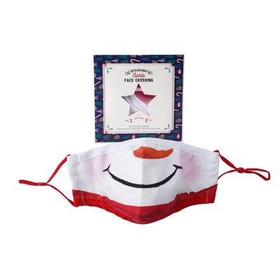 CGB Giftware Schutzmaske Baumwolle mit Filterfach Snowman