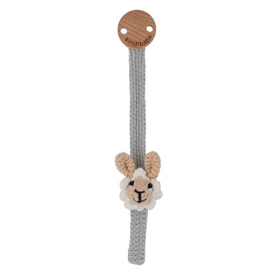 Sindibaba Pacifier clip with Lama (organic cotton)