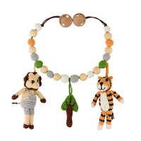Sindibaba Stroller Chain with rattle Tiger/Lion