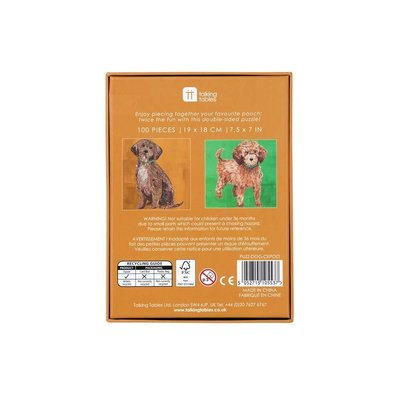 Talking Tables Puzzle  double-sided Dog Pooch