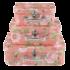 Clayre & Eef Suitcase Flowery salmon Set of 3