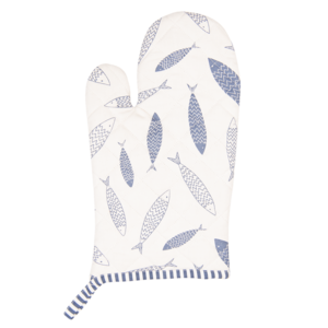 Clayre & Eef Oven mitt Nautical Fish