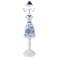Clayre & Eef Schmuckständer White Dress with Blue Flowers