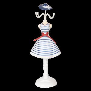 Clayre & Eef Schmuckständer White Dress with Blue Stripes