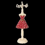 Clayre & Eef Schmuckständer Red Dress with White Dots small