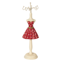 Clayre & Eef Jewelery stand Red Dress with White Dots small