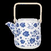 Clayre & Eef Teekanne Flowers blue