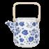 Clayre & Eef Teapot Flowers blue