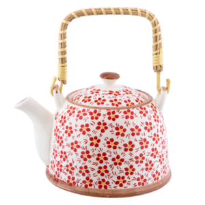 Clayre & Eef Teapot Daisies red
